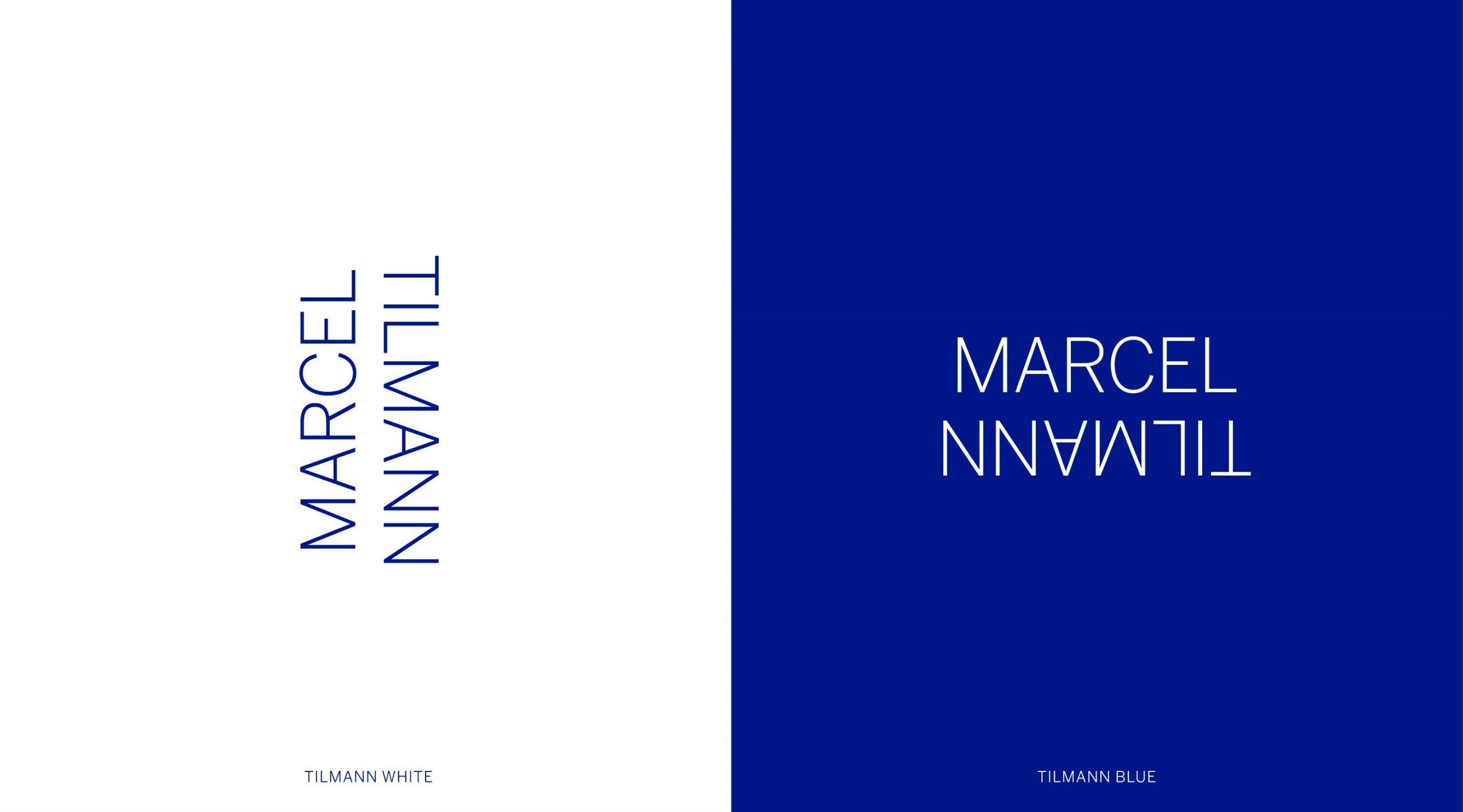 Marcel Tilmann Branding dynamisches Logo auf weiß und blau – Uthmöller und Partner