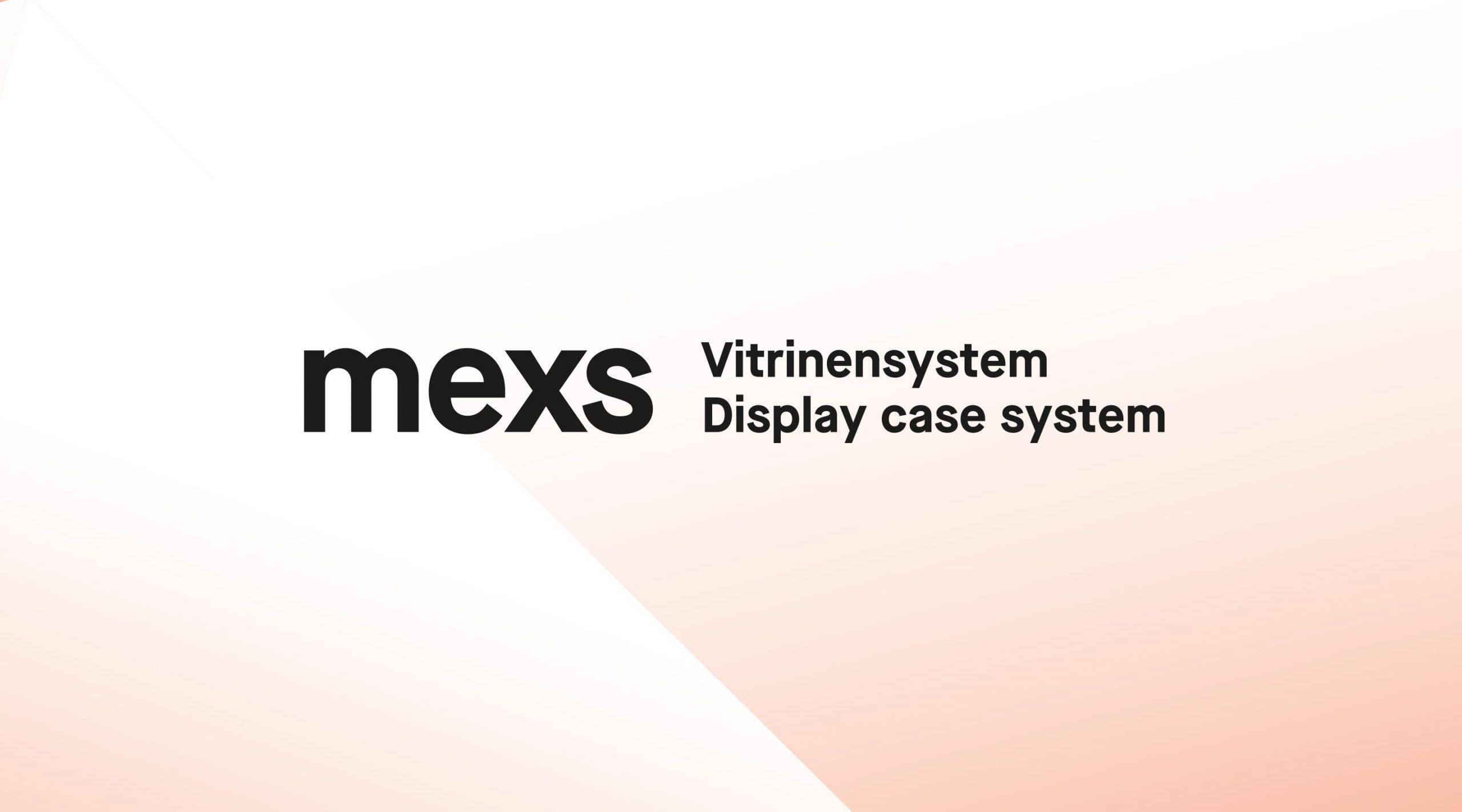 mexs by Museumstechnik Branding, Logo mit Zusatz und Farbverlauf – Uthmöller und Partner
