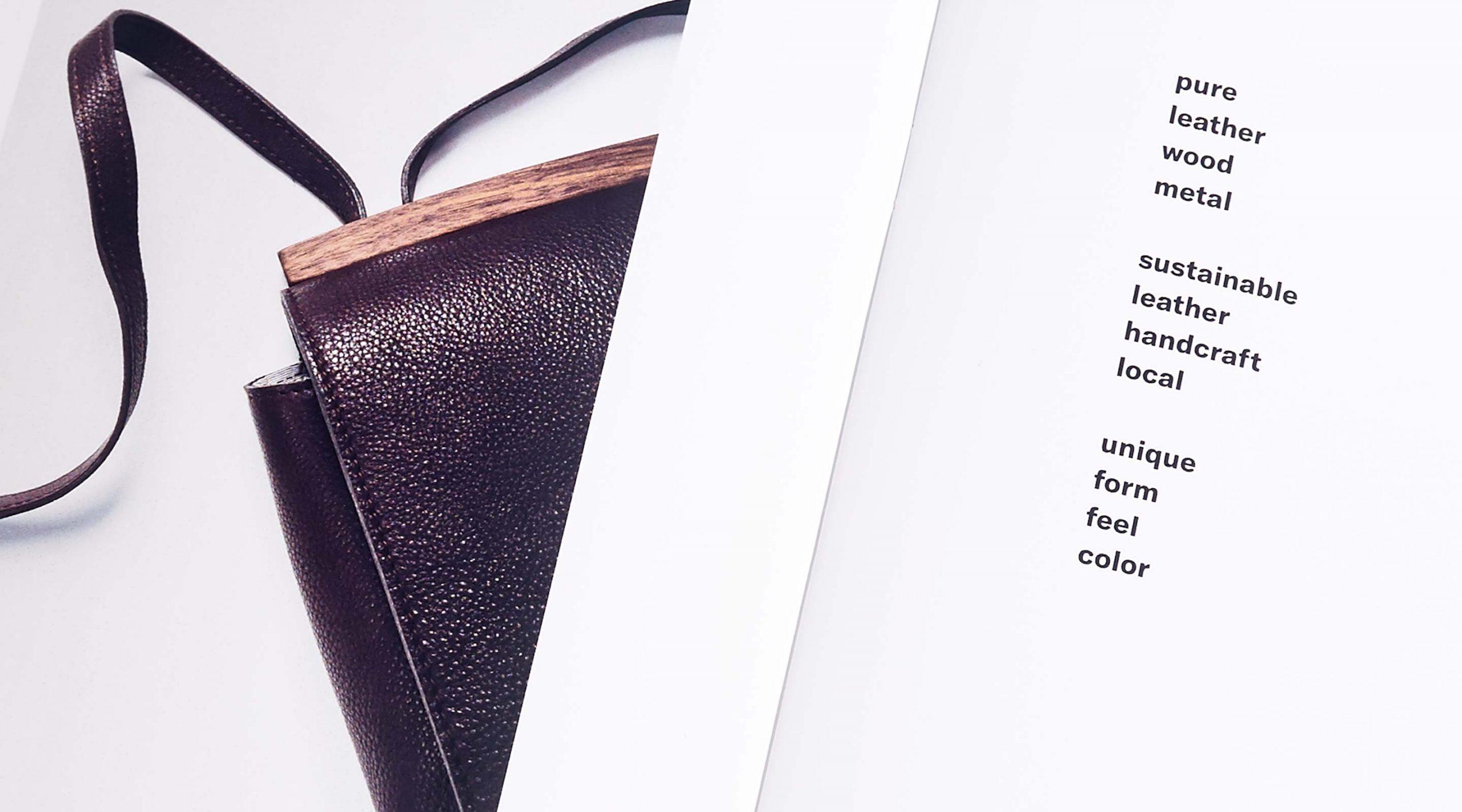 Disselhoff Branding Lookbook Detail mit Tasche – Uthmöller und Partner