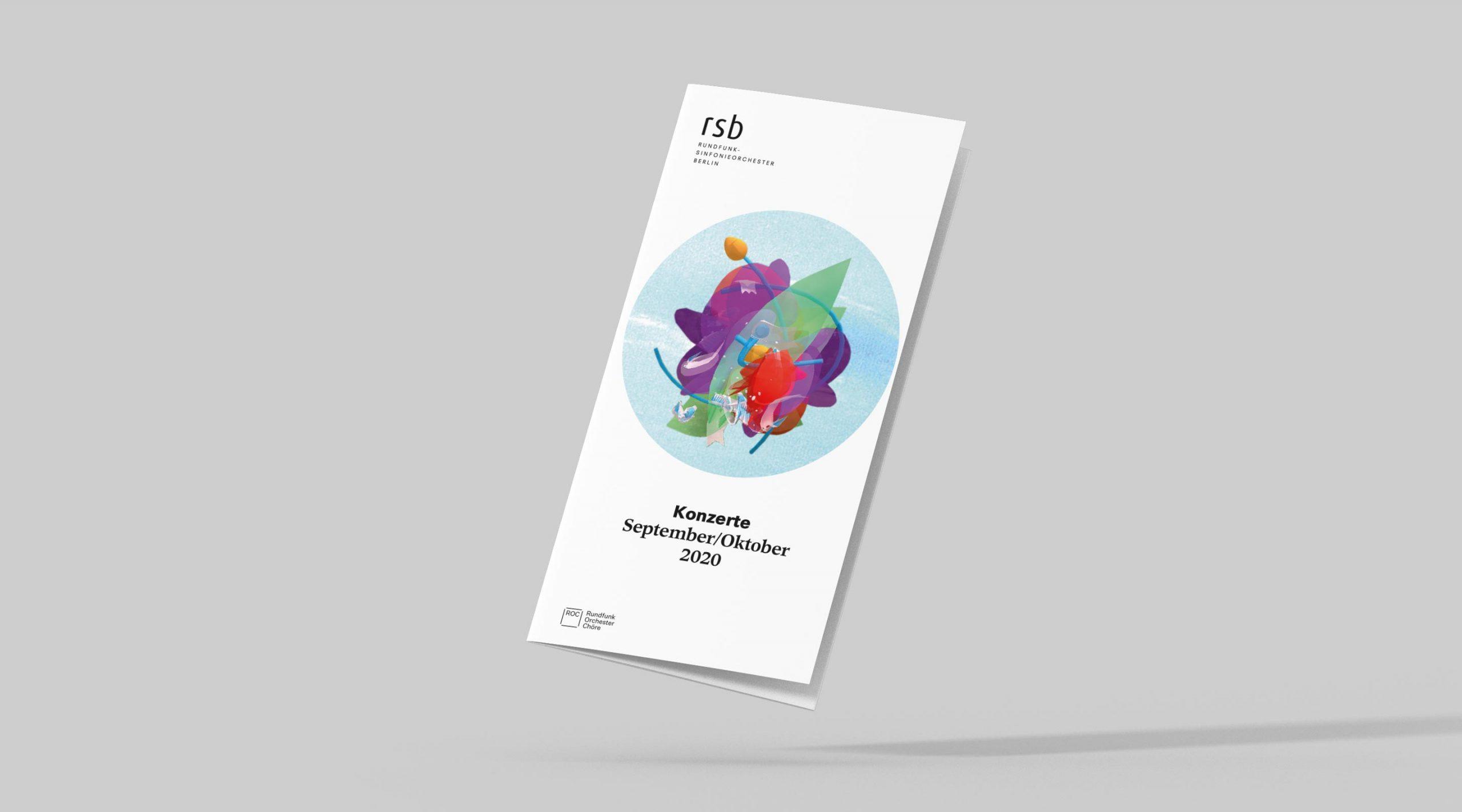 rsb Saison Motiv Konzertflyer Cover – Uthmöller und Partner