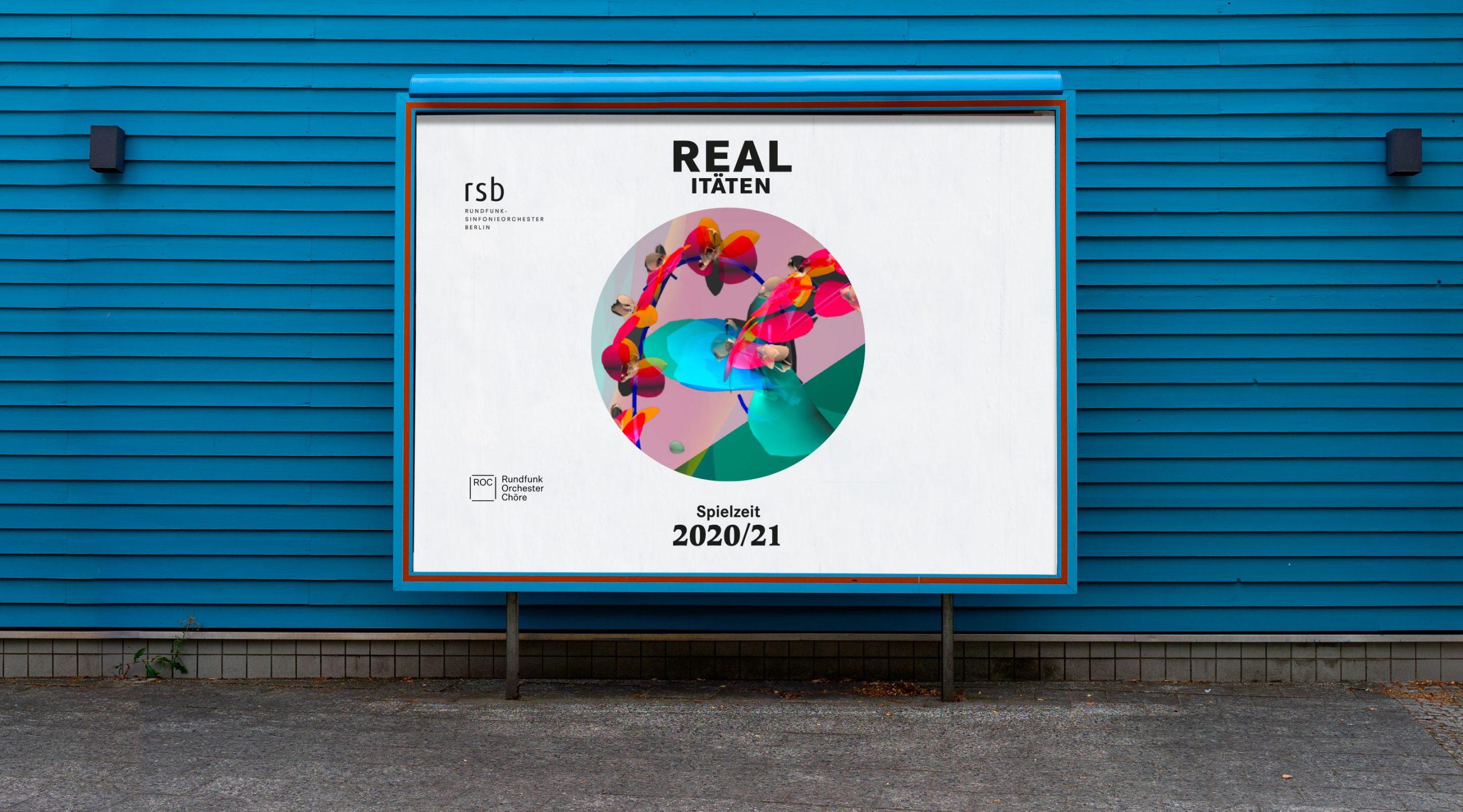 rsb Saison Motiv Poster vor blauer Wand – Uthmöller und Partner