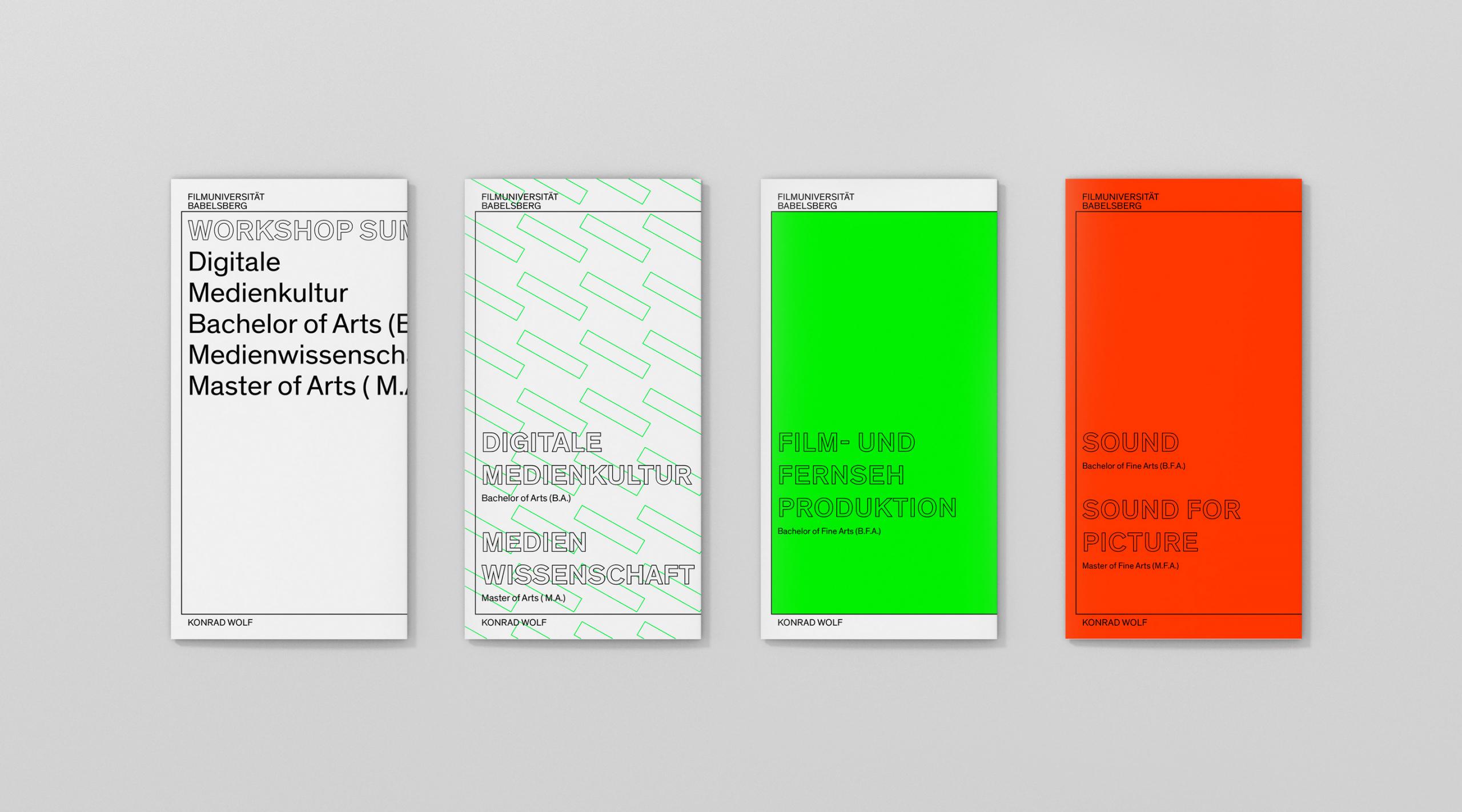 Filmuniversität Branding Proposal Flyer Titelseiten – Uthmöller und Partner