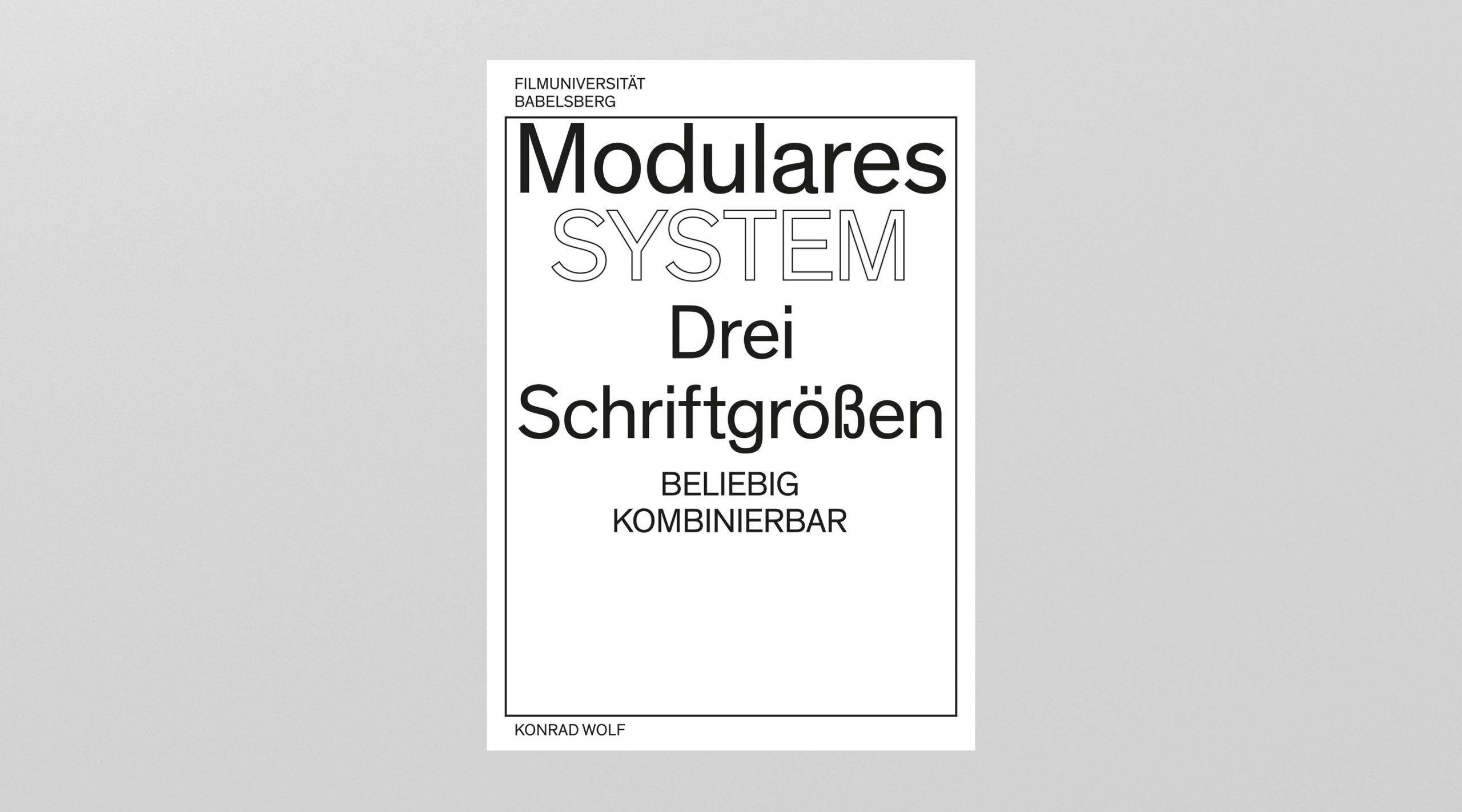 Filmuniversität Branding Proposal Plakatkonzept das modulare System – Uthmöller und Partner
