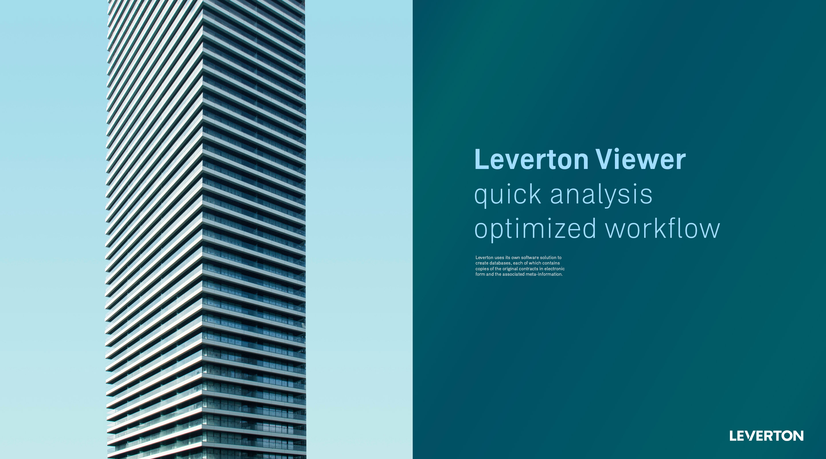 Leverton Corporate Design Look and Feel von Uthmöller und Partner