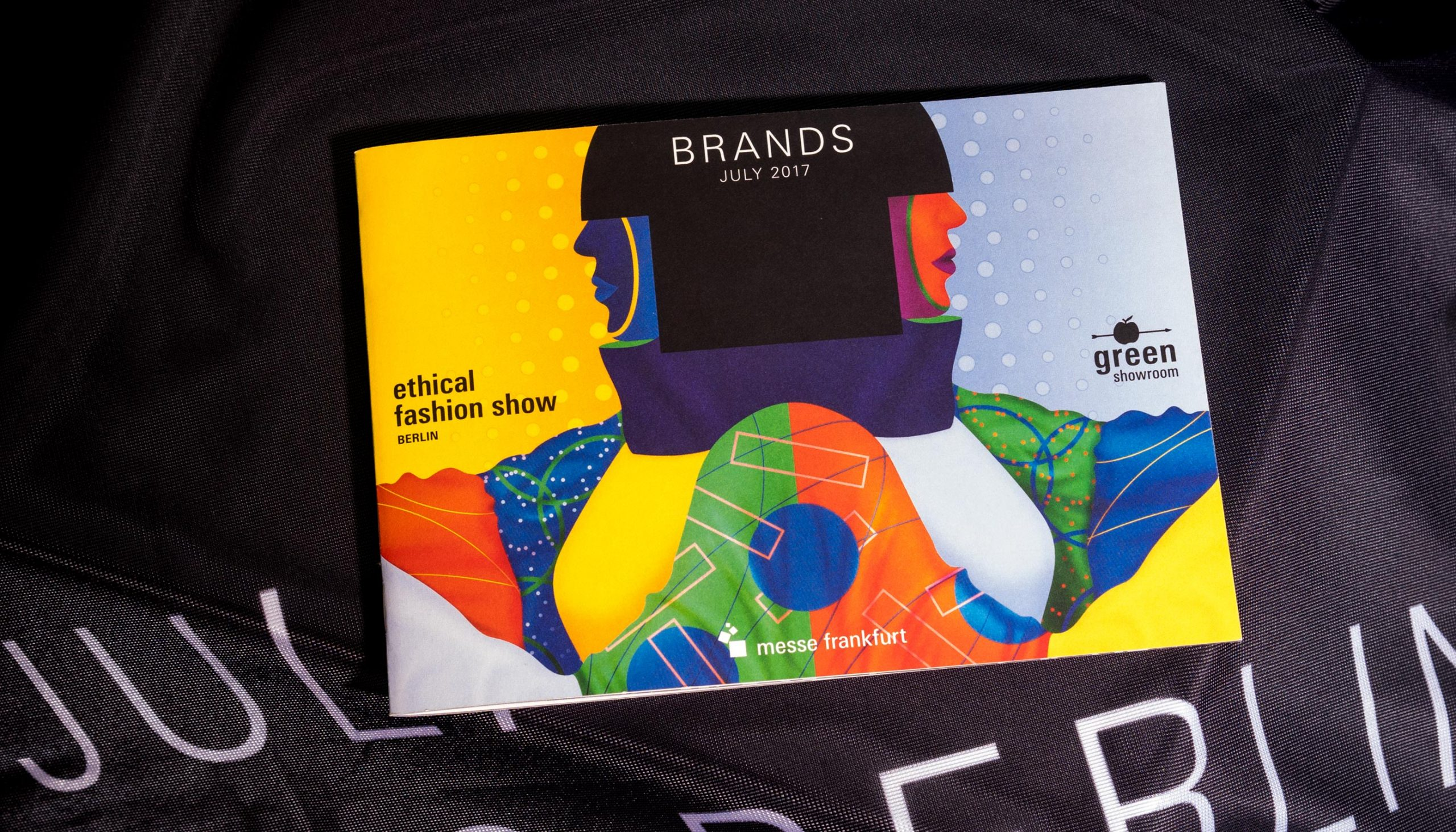 Messe Frankfurt – Ethical Fashion Show und Green Showroom Brandbook Detail Typografie Juli 2017 Brandbook Cover – Uthmöller und Partner