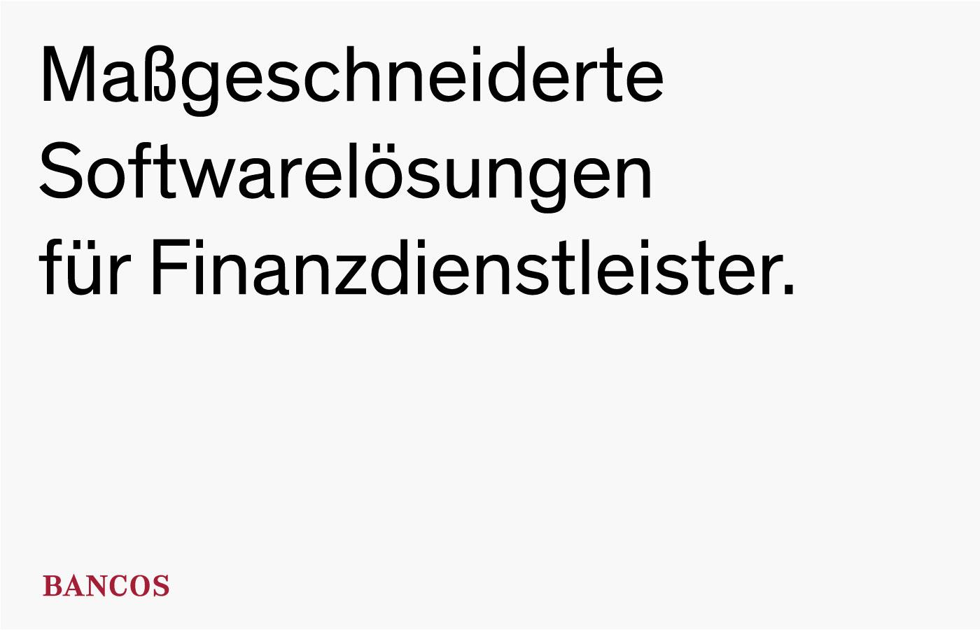 BancosBankensoftware neu inszeniert.